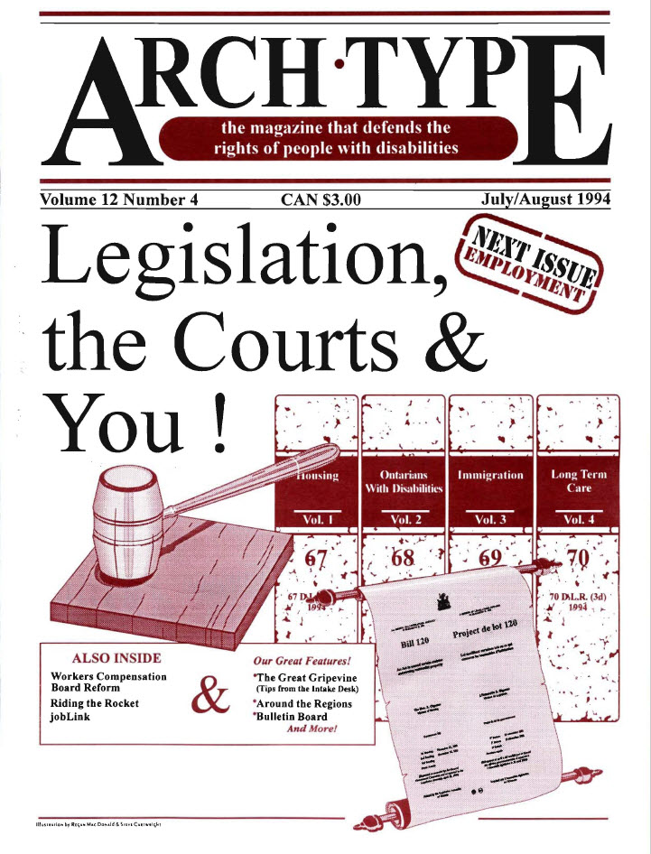 "Cover of Arch Type with headline ""Legislation, the Courts and You"""