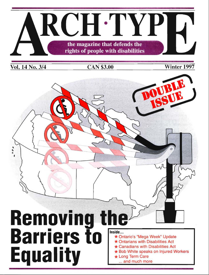 "Cover of Arch Type with headline ""Removing the Barriers to Equality"""