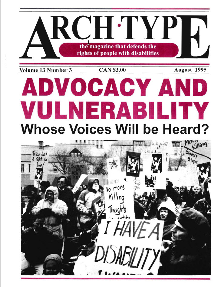 "Cover of Arch Type with headline ""Advocacy and Vulnerability"""