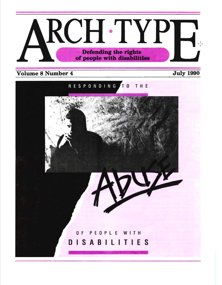 "Cover of Arch Type with headline ""Abuse of people with disabilities"""