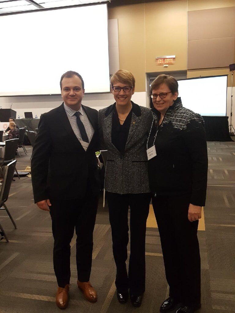 Robert Lattanzio, ARCH Executive Director, Chief Commissioner Marie-Claude Landry, Canadian Human Rights Commission, and Dr. Susan Hardie, Executive Director, eviance.