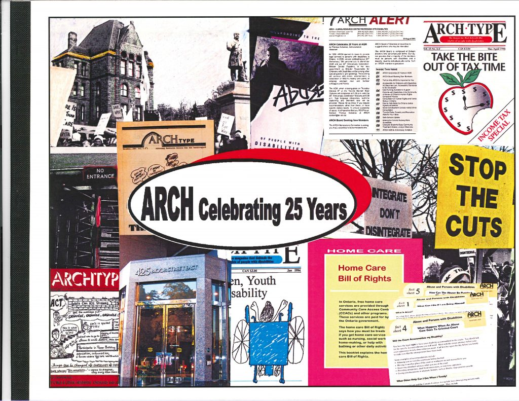 "front cover of ""ARCH Celebrating 25 Years"" booklet"