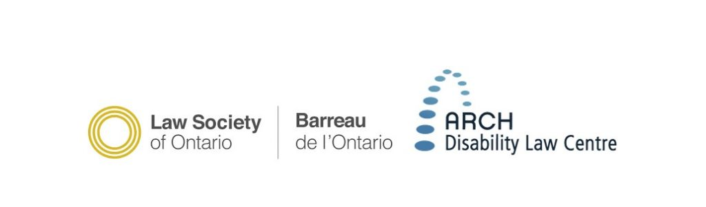Logo images for ARCH and for the Law Society of Ontario