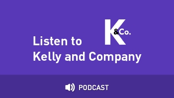 "Logo for AMI's segment with text ""listen to Kelly & Company podcast"""