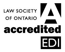 EDI accredited logo - this program is accredited by the Law Society of Ontario for Equality, Diversity and Inclusion Professionalism Hours (EDI Hours).