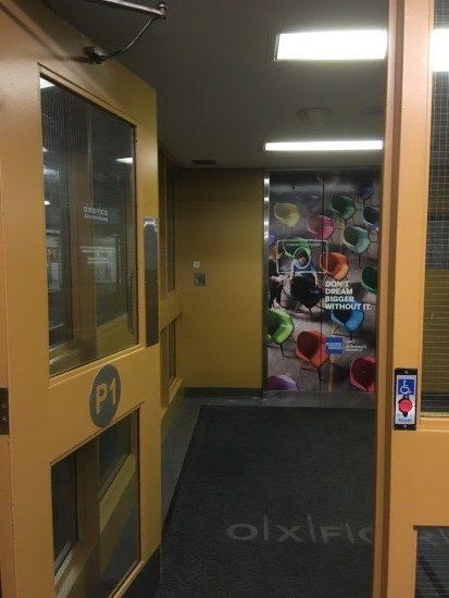 door opening to elevator